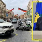 The President of Malta Stops To Assist Traffic Accident Victim