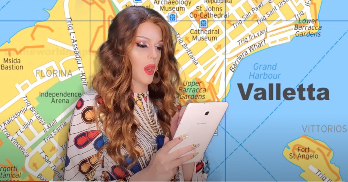 WATCH Albanian drag queen does a parody of Destiny's Eurovision song